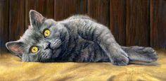 Cat painting Lucie Bilodeau