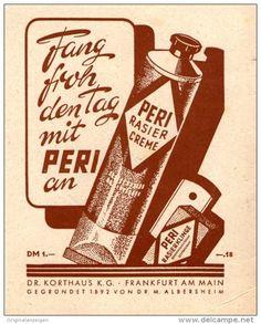 Original-Werbung/Inserat/ Anzeige 1949 : PERI RASIER CREME ca. 100 x 80 mm