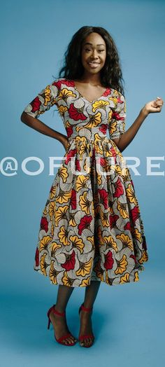 The NIKE dress. V neck African print midi dress with 3/4 sleeve, fully lined with 2 side pockets and back zip. Made with 100% cotton high quality African print wax fabric and 100% cotton lining.   Ankara | Dutch wax | Kente | Kitenge | Dashiki | African print bomber jacket | African fashion | Ankara bomber jacket | African prints | Nigerian style | Ghanaian fashion | Senegal fashion | Kenya fashion | Nigerian fashion | Ankara mini dress (affiliate)