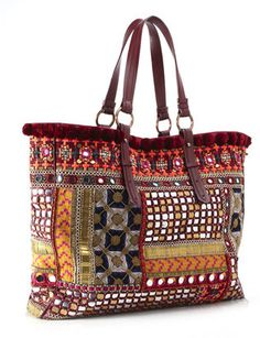 ShopStyle: Matthew Williamson Matthew Williamson: Pink Fully Embroidered Tote