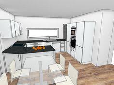 New Kitchen Interior, Kitchen Room Design, Modern Kitchen Design, Kitchen Layout, Kitchen Modular, Compact Kitchen, Küchen Design, House Design, Small U Shaped Kitchens