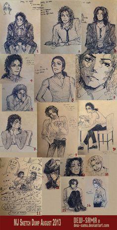 MJ sketch dump 1 by Dew-Sama on DeviantArt Michael Jackson Funny, Michael Jackson Drawings, Michael Jackson Wallpaper, Jackson Family, Jackson Bad, Michael Art, Jackson's Art, King Of Music, Drawing Practice