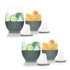 Dimple Stemless Wine Glasses (set of 4)