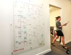 Clear Perspex Whiteboard, Calendar, Job Schedule