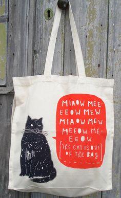 cat bag by charlottefarmer1 on Etsy