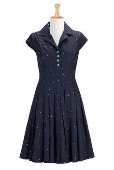 Daytime Party Dresses Plus Size, Embellished Fit & Flare Dresses Shop womens short sleeve dresses - Dress Apparel - to suit any size and shape   eShakti.com