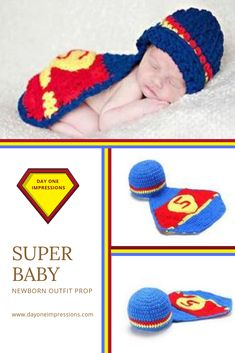 cb0d33727a79 SUPER BABY. Newborn Baby PhotographyPhotography PropsKnitting And Crocheting ShoesNewborn Photography
