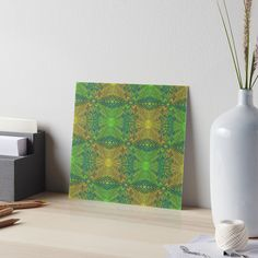 """""""""""Oak King"""", bohemian pattern in yellow and green tones"""" Art Boards by clipsocallipso 