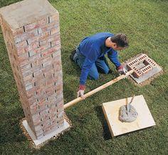 Betonzaun Modell Ziegelstein