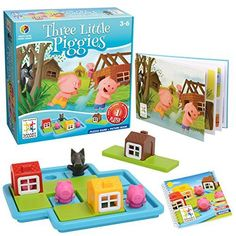 Review of the independent game Three Little Piggies by SmartGames. A great single player, logic game for 3 and 4 year olds.