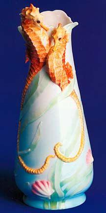 "Franz Seahorse Vase 13 1/2"" H"