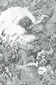 SUPERMAN UNCHAINED DIRECTOR'S CUT #1//Covers and Splashes/Jim Lee/ Comic Art Community GALLERY OF COMIC ART