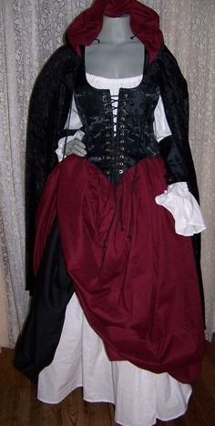 Piratess Renaissance Pirate Gown Dress costume by zachulascrypt, $250.00