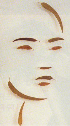Markus Raetz, Four Heads, detail