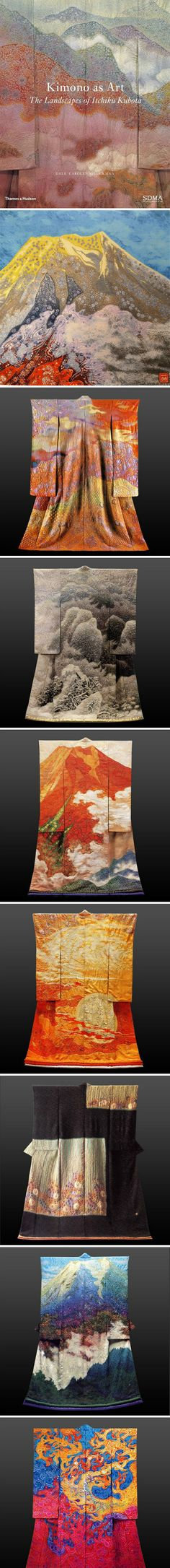 "Images from Publication: Kimono as Art - The landscape of Itchuku Kubota By Dale Carolyn Gluckman ""The first major book on Japanese textile artist Itchiku Kubota, published to accompany a touring exhibition."" #PurelyInspiration #ArtonTap"