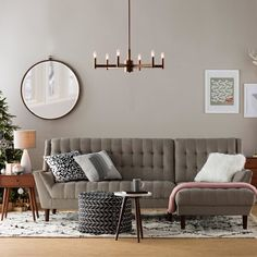 There really is no place like home for the holidays 🙌🏻 Shop this mid-century modern #livingroom at the link in our profile. #happymoderndays #midcentury #allmodern
