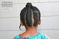 Loose Flat Twists Into Bantu Knot #NaturalHair #Hairstyle | Chocolate Hair / Vanilla Care