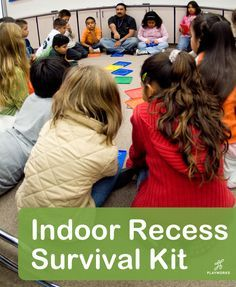 Indoor Recess Survival Kit from Playworks. 12 games and activities to get students active in the classroom.