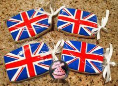 British Theme British Flag British Cookies British by TheSugarClub British Cookies, British Biscuits, London Theme Parties, London Party, Gifts Uk, Candy Gifts, England Party, British Party, Royal Party
