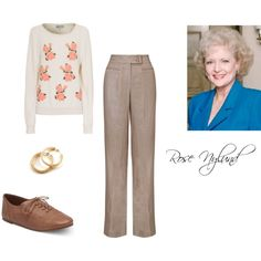 Rose Nylund (Betty White) from Golden Girls by jem85 on Polyvore featuring Wildfox, John Lewis, Lucky Brand and YooLa