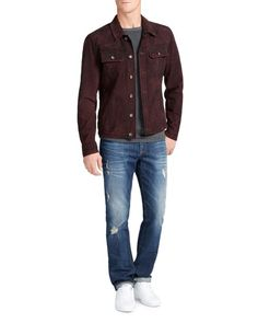 William Rast Dayton Suede Trucker Jacket