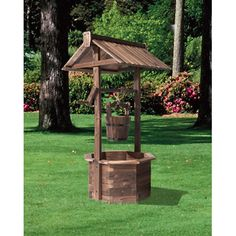 Burnt Finish Wishing Well, Model# Xl310