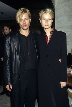 Brad Pitt and Gwyneth Paltrow in 1997. See 17 more celebrity couples who dressed alike.