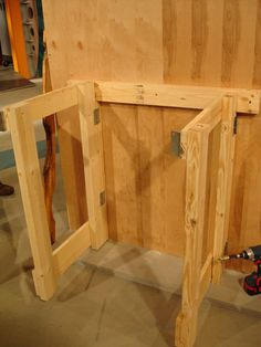 How to Make a Fold-Down Workbench