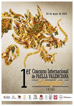 Cartel oficial del 54 Concurs Internacional de Paella Valenciana de Sueca 2014 (semifinal Shanghai, China)