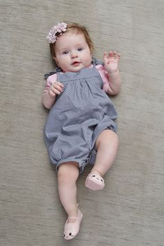 Baby romper, baby girl romper, summer romper, romper for newborn Cute Little Baby, Little Babies, Cute Babies, Baby Girl Romper, Baby Girl Newborn, Cute Baby Pictures, Summer Romper, Pregnancy Outfits, Kids Fashion