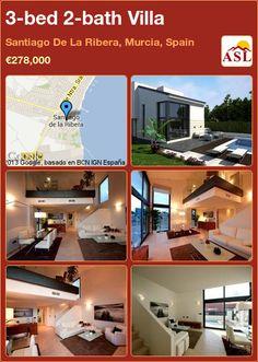 3-bed 2-bath Villa in Santiago De La Ribera, Murcia, Spain ►€278,000 #PropertyForSaleInSpain