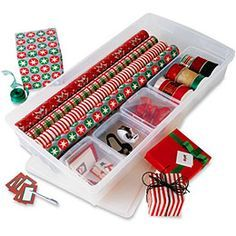 I loved this idea however I made my own and u. I loved this idea however I made my own and unlike the Container store one, longer Christmas wrapping paper rolls fit in mine! Wrapping Paper Rolls, Wrapping Paper Storage, Wrapping Presents, Wrapping Papers, Holiday Storage, Christmas Storage, Christmas Gift Wrapping, Christmas Decorations To Make, Christmas Paper
