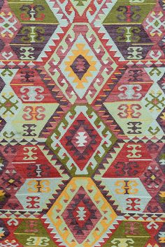 Handwoven Kilim Rug, Indian Rug, Wool Area Rug, Decorative Rug