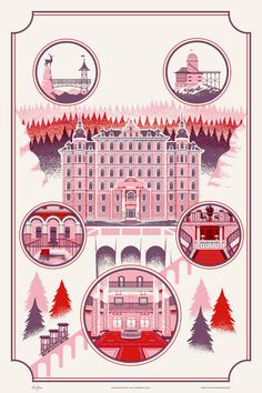 Nashville-based Alex Pearson, artist and owner of the Familytree creative studio (previously), has created a beautiful art print featuring the remote mountainside hotel from Wes Anderson's comedy f...