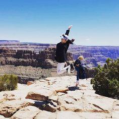 Instagram의 J님: #점프샷 #그랜드캐년 #grandcanyon 찍어본 사람들은 안다는 쩜프샷 찍는과정