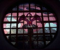 Hugo Simberg, Finnish artist, created this stained glass window, depicting a Pelican feeding her young with her heart's blood, as a symbol of the Holy communion. Located at the Tampere Cathedral. Through The Looking Glass, Stained Glass Windows, Communion, 21st Century, Cathedral, Blood, Religion, Mirror, Artist