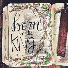 Day 27 of the @shereadstruth advent. I did a thorn crown a few weeks ago on the very first day of the study on the page next to this one, so I thought I'd stick with the theme. I may try and take a picture of them both tomorrow side by side. I hope you all had a wonderful birthday party for Jesus today! With lots of love and joy shared with family and friends! To us a child is born, to us a son is given. Born is the King. Thanks be to God. Merry Christmas. ❤️✨ P. S. The amazing copper b...
