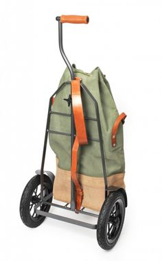 With such an intimidating name, Hack-enflitzer is not your typical transport bag. Fishing Cart, Trolley Dolly, Shopping Totes, Bike Trailer, Cargo Bike, Vintage Luggage, Man Room, Bike Design, Courses