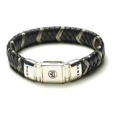 Rebel and Rose Absolutely Leather Metal Black Armband RR-L0004-S € 89,50