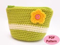 (4) Name: 'Crocheting : Crochet Easy Coin Pouch Pattern