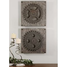You'll love the 2 Piece Gear Wheel Wall Décor Set at Wayfair - Great Deals on all Décor & Pillows products with Free Shipping on most stuff, even the big stuff.