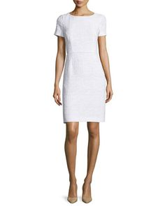 Short-Sleeve+Sheath+Dress,+Frost+by+Escada+at+Neiman+Marcus.