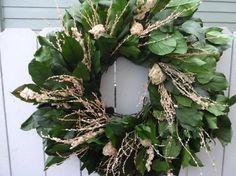 Salal Wreath Preserved Wreath  Peony Wreath  Easter Wreath