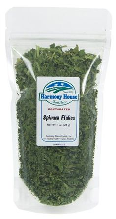 Harmony House Foods Dried Spinach Flakes 5 oz ZIP Pouch for Cooking Camping Emergency Supply and More ** Want additional info? Click on the image.