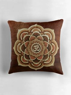 Excited to share the latest addition to my   http://etsy.me/1NjSU3P Spiritual Happiness Mandala of patience THROW PILLOW, wood Pattern case, Peaceful Bedroom Decor, Meditation Zen Mindfulness Home Decor http://etsy.me/2D0UbtE  #pillow #red #geometric