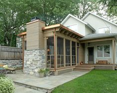 Striking Three Season Porch - traditional - porch - minneapolis - by . Porch Flat Roof, Patio Roof, Pergola Patio, Pergola Kits, Minneapolis, Four Seasons Room, Three Season Porch, 3 Season Room, Traditional Porch