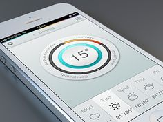 A weather interface practice.Inspired by a lot of circular product interface,so i think maybe make some attempt to weather app. Dial indicator is divided into four parts:Humidity,API,Wind Power,Con...