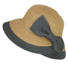 c8620bf5d01 Jeanne Simmons Women s Overlapping Split Brim Bucket Hat with Bow at Back