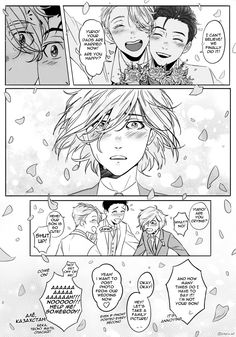 "amelin-art: "" trying clip studio for the first time x) I think yurio will cry at their wedding bc he is actually glad for them but doesn't want to say it """