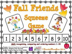 Fall+Friends+Squeeze+Number+Game+from+overthemoonbow+on+TeachersNotebook.com+-++(13+pages)++-+This+fun,+fall+themed+activity+will+help+your+students+practice+recognizing,+comparing+and+ordering+numbers+1-30!